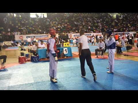 Türkiye Gençler Taekwondo Şampiyonası 55 kg - Orkun Alkan (kırmızı) - Eren Orsavaş ( mavi )