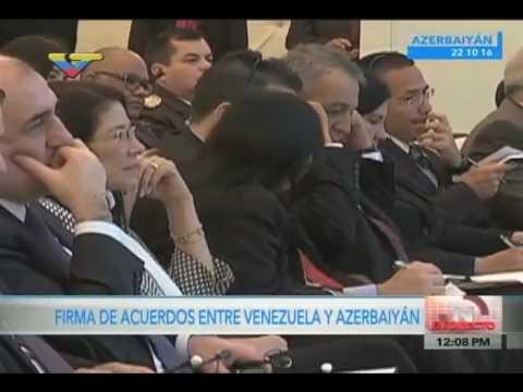 Maduro desde Azerbaiyán firma acuerdos en materia petrolera, 22/10/16