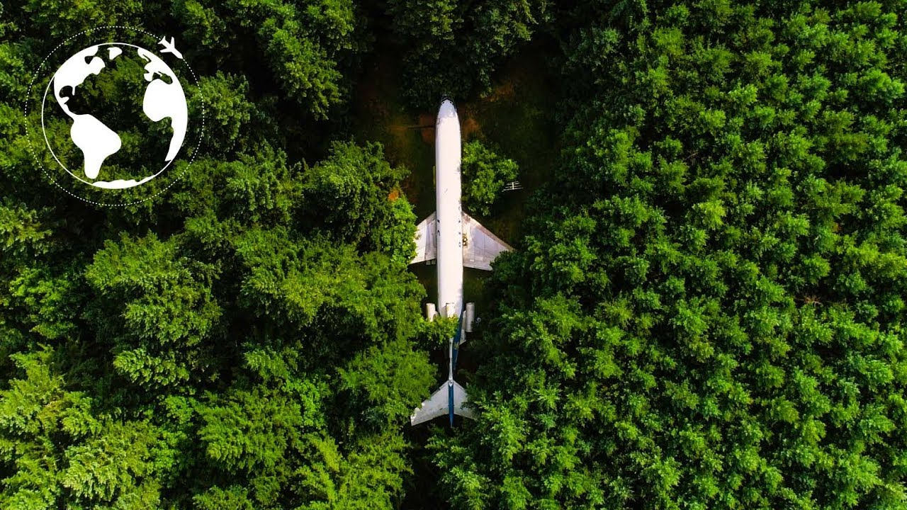 AIRPLANE CONVERTED to Functional HOME for Protection from ENVIRONMENTAL  DISASTERS