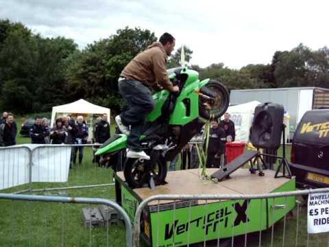 vertical trix, wheelie machine, stunt team, kawasaki 636