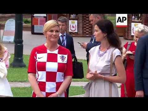 Croatian president in Russia for World Cup match