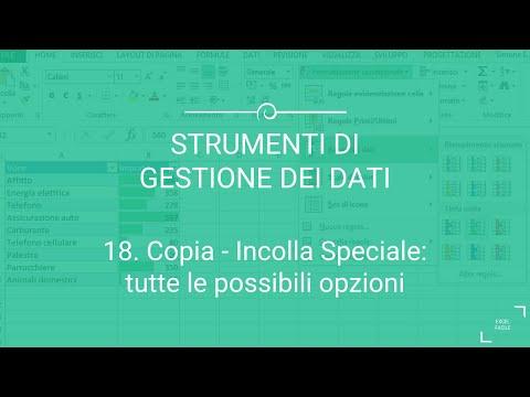 Copia e Incolla Speciale: tutte le opzioni possibili - Excel Facile