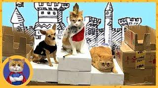 Замок для кота Рыжика из коробок своими руками