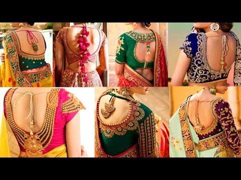 New Latest Bridal Blouse Design 2019 Beautiful Bridal Blouse Back Neck Designs Blouse Neck Design Youtube,Forearm Family Tree Tattoo Designs