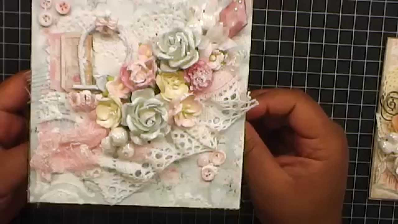 Shabby Chic Ness Cards And Embellisments WOC YouTube