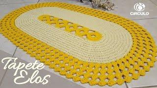Veja Como Fazer Tapete Elos em Crochê