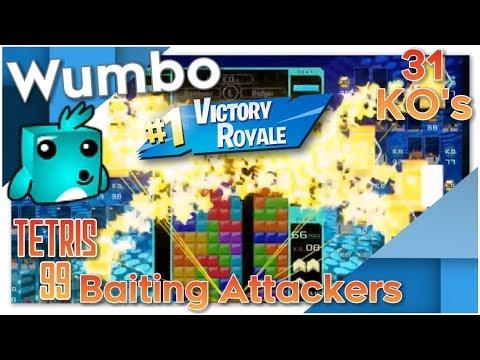Tetris 99 - Baiting Attackers - 31 KO's #1 Victory Royale