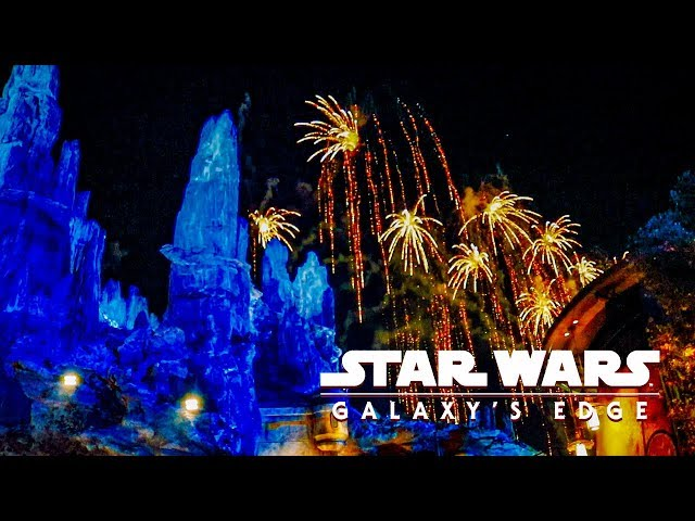 Disneyland Fireworks from Star Wars Galaxy's Edge