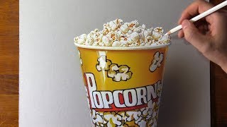Drawing Popcorn  Who eats it while watching a movie?