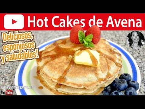 CÓMO HACER HOT CAKES DE AVENA SIN HARINA | OATMEAL PANCAKES Vicky Receta Facil
