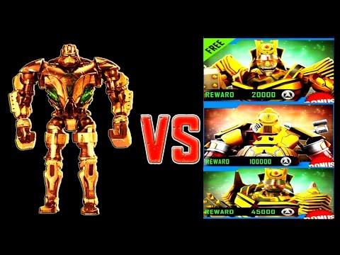 Real Steel WRB ZEUS GOLD (CHAMPION) VS SUMMER GAMES 2016 ROBOTS Series Fights NEW ROBOT Живая Сталь
