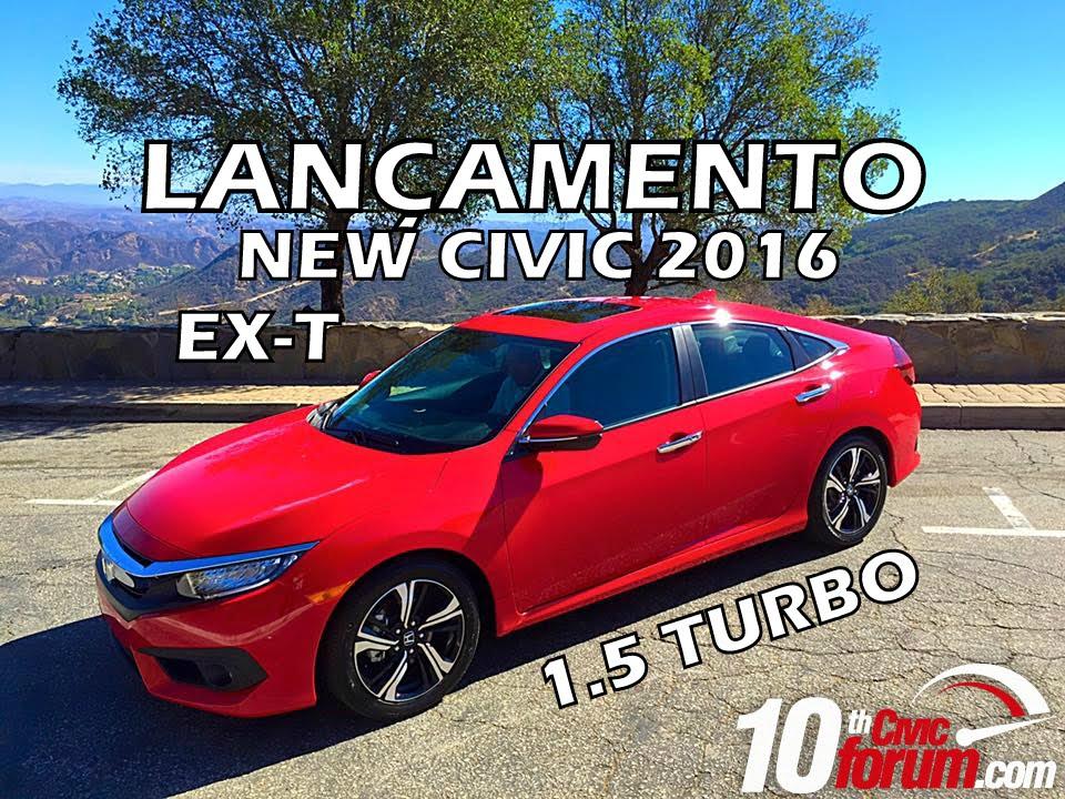 AVALIAÇÃO] HONDA NEW CIVIC EX-T 2016 TOURING 1.5 TURBO 174CV EM ...