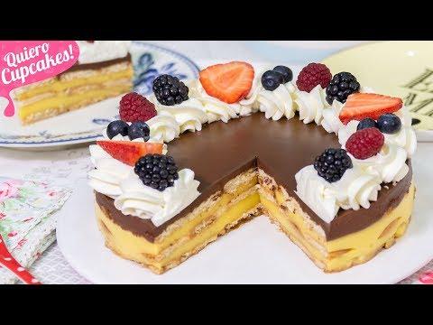 TARTA DE LA ABUELA (FLAN, CHOCOLATE Y GALLETAS) | POSTRE SIN HORNO | Quiero Cupcakes!
