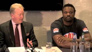 PRESS CONFERENCE DERECK CHISORA DON CHARLES WITH FRANK WARREN / CHISORA v FURY / BAD BLOOD
