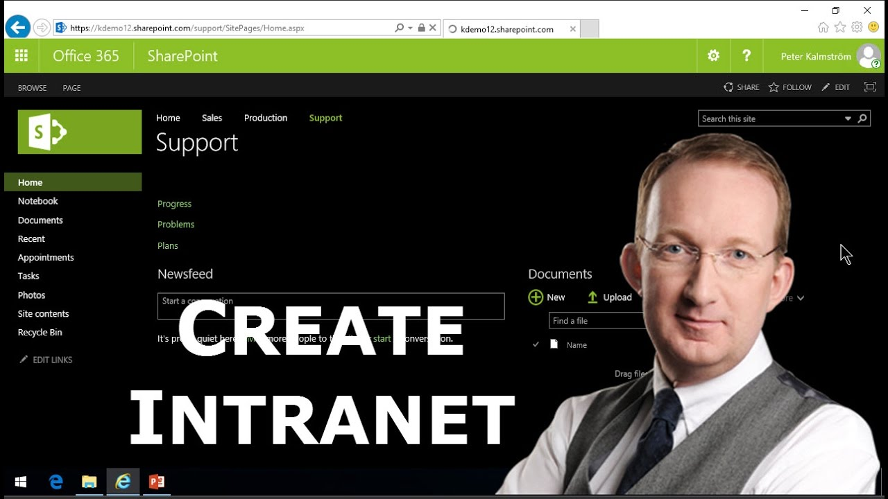 how to create sharepoint online account