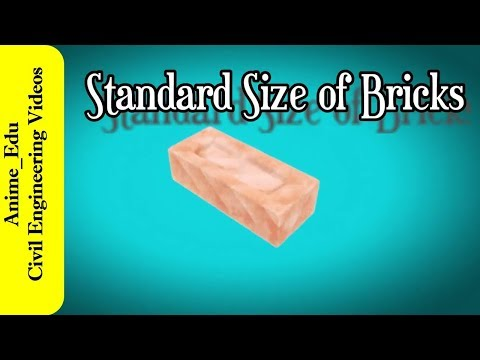 What are the Standard Size of Bricks? // Standard Brick Size As per BIS Code //
