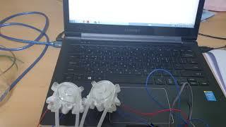 시리얼 통신으로 연동모터 제어하기