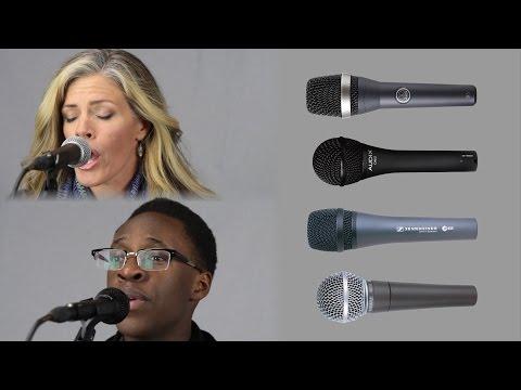 Shure SM58 vs Sennheiser e835 vs AKG D5 vs AUDIX OM2 Live Vocal Microphone Comparison & Review