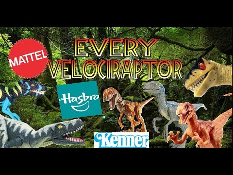Every Velociraptor Toy Ever Made Jurassic Park Jurassic