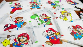 Drawing Super Mario Evolขtion 35th Anniversary (1985 - 2020)