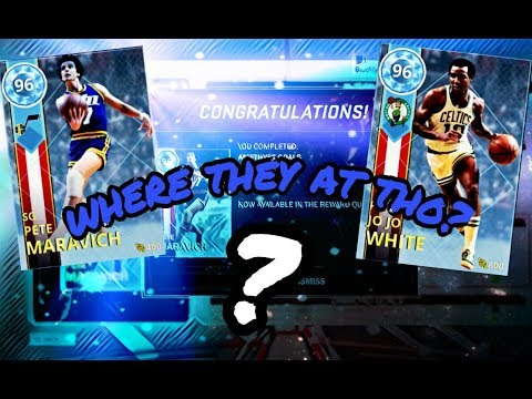 NBA 2k18 myteam: We got Diamond Jo Jo white and pistol pete