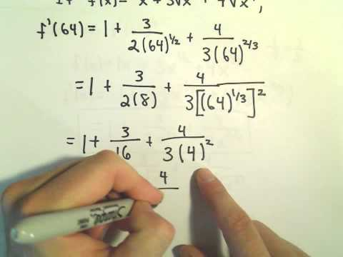 Power Rule for Finding Derivatives, Basic Example #3