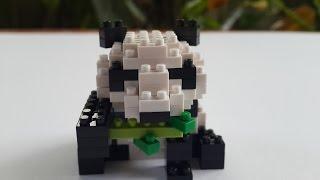 Nanoblock Giant Panda [Time Lapse]
