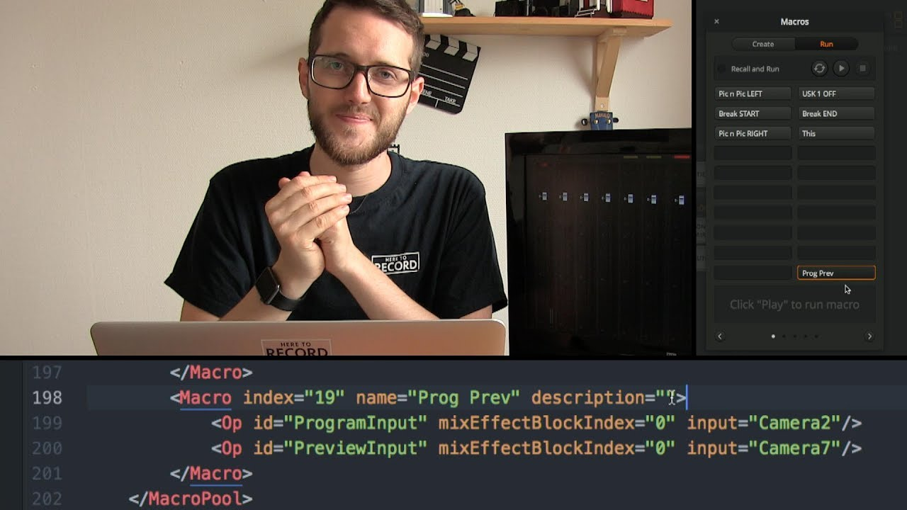 ATEM Macros - Getting started, XML editing and more // Show and Tell Ep 20