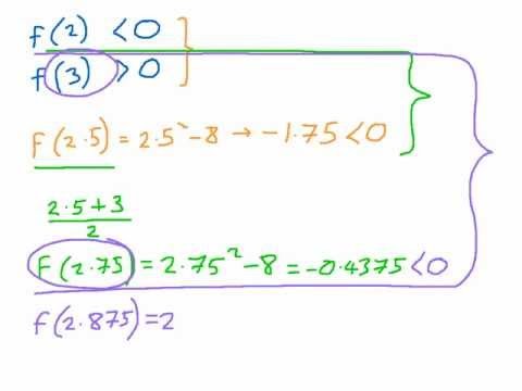 How to perform Interval Bisections - Numerical Methods - Finding Approximations