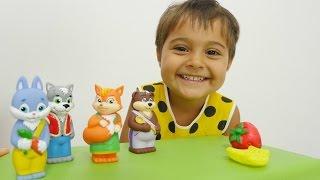 Прикольное видео для детей с игрушками. КОЛОБОК на новый лад. Развивающее видео.