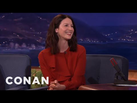 Sylvester Stallone Was Intimidated By Caitriona Balfe's Height   CONAN on TBS