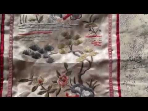 Antique silk chinese embroidery, handmade antique, ebay #251533061932