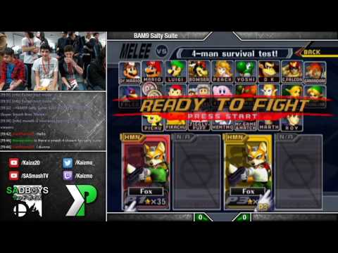 BAM9 Salty Suite - SSBM - Kami (Green) vs Sora (Default) - Fox Money Match