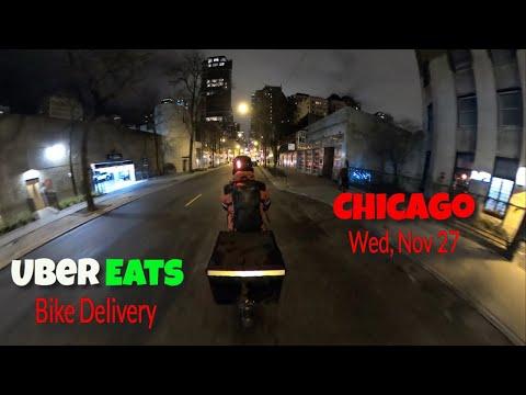 Uber Eats Bike Courier Chicago