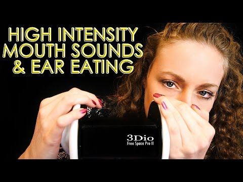High Intensity Mouth Sounds & Ear Eating! Binaural ASMR