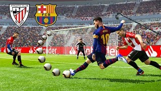 PES 2019 | ATHLETIC BILBAO VS BARCELONA | Messi Amazing Goals | Gameplay PC
