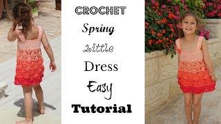 Girl's Spring Wavy little dress Easy Tutorial