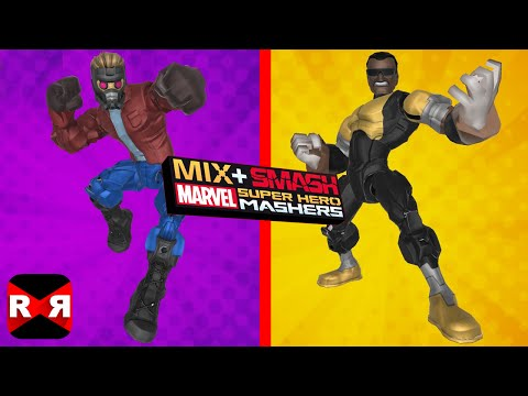 Marvel Super Hero Mashers - Star Lord and Power Man (Luke Cage) - Mix+Smash - iOS / Android Gameplay