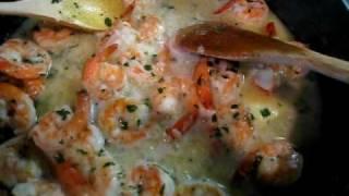 Shrimp Scampi W/ Cucumber Salad