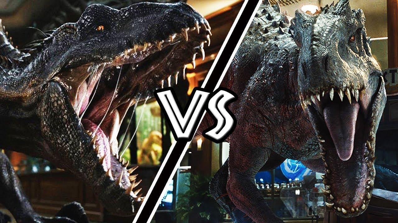 indominus rex vs indoraptor ¿quién gana?  versus  youtube