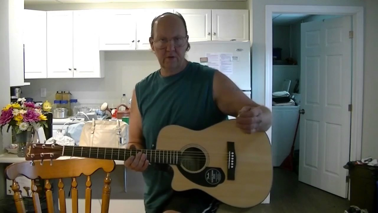 fender cc 60sce lh nat acoustic electric guitar unboxing youtube. Black Bedroom Furniture Sets. Home Design Ideas