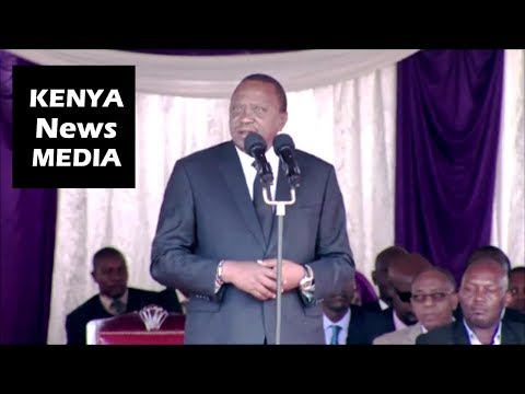 President Uhuru Kenyatta FULL SPEECH Pt 1 During Archbishop JOHN NJENGA FUNERAL MASS!!!