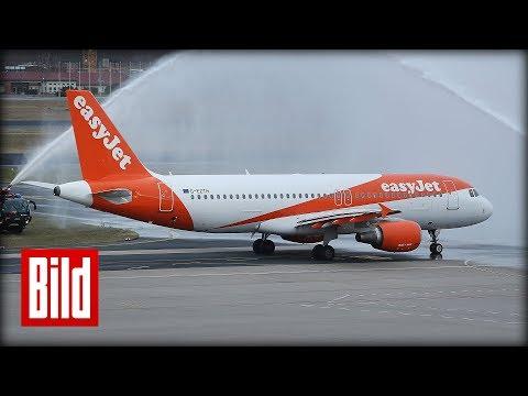 easyJet startet ersten Flug von Berlin nach München - BILD an Bord