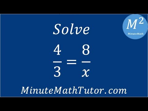 Solve 4/3=8/x