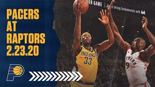 Indiana Pacers Highlights vs. Toronto Raptors | February 23, 2020