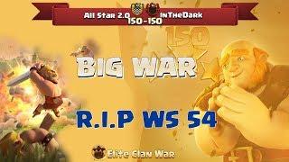 InTheDark Losts 54 Win Streak By All Star 2.0 | Biggest War 2018 Clash of Clans| ClanVNN #613