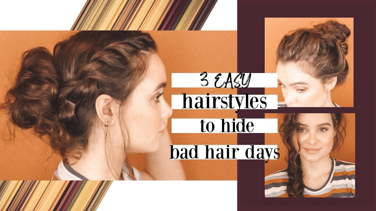 easy curly hairstyles for bad hair days