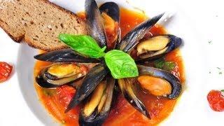 ซุปหอยแมลงภู่สไตล์ไทย Spicy Blue Mussel And Tomato Soup