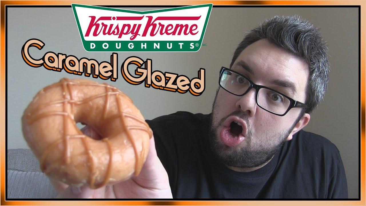 Krispy Kreme Caramel Glazed Doughnut Review Youtube Kripiss Medan Karamel