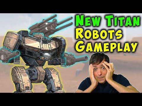 NEW TITANS Feature Gameplay War Robots Test Server - WR ARTHUR Titan